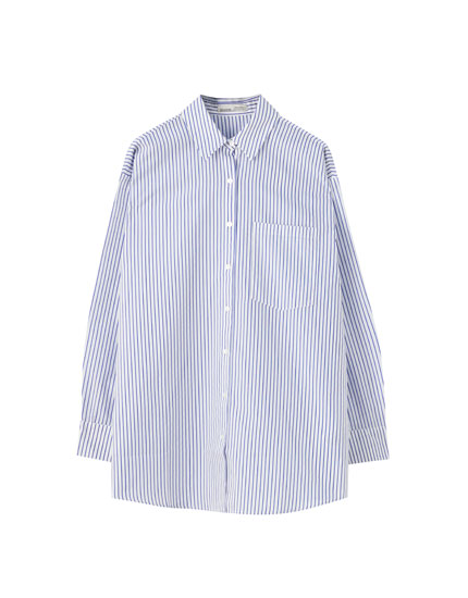 Blue striped oversize shirt