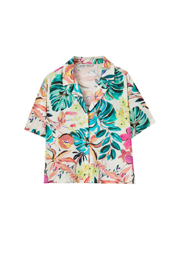 Camisa estampat floral multicolor