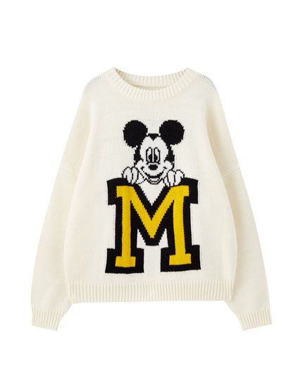 Mickey Mouse varsity sweater