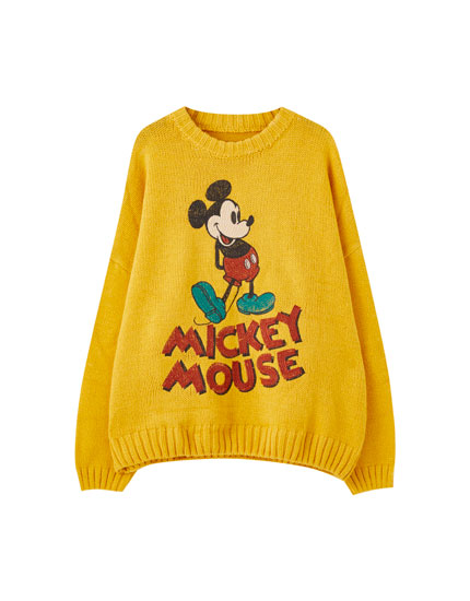 Mickey Mouse sweater in yellow