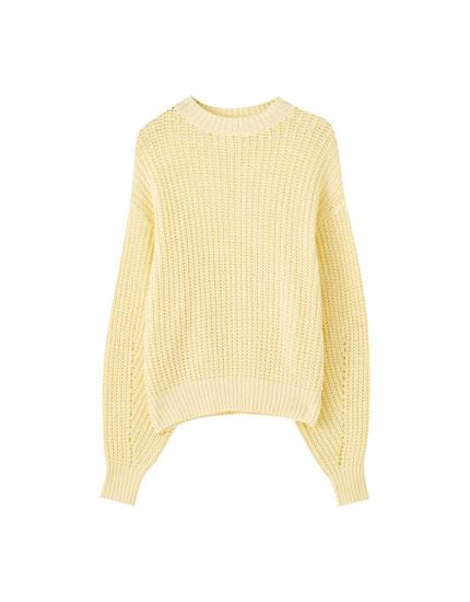 Voluminous brioche stitch sweater