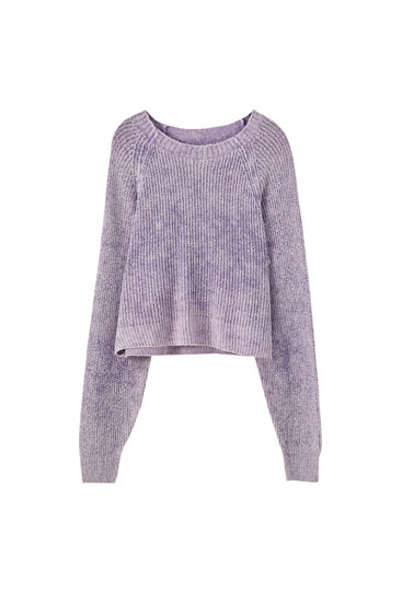 Round neck cotton sweater