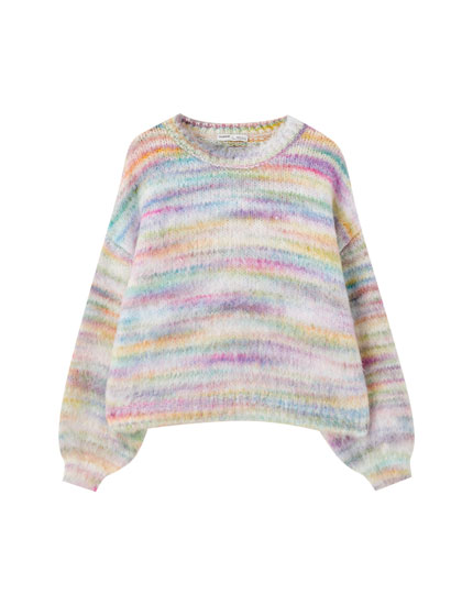 Multicoloured tie-dye sweater