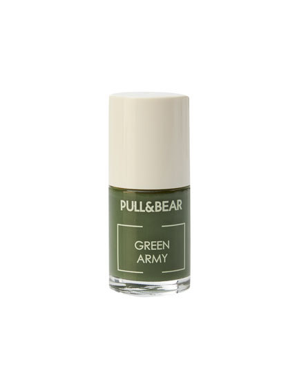 Green Army nail varnish