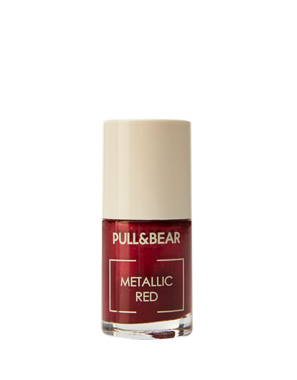 Metallic Red nail varnish