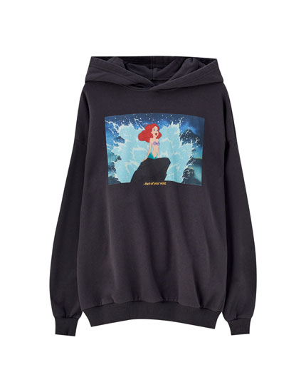 Hoodie with Little Mermaid illustration
