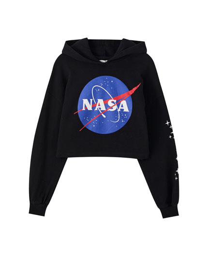 Black NASA sweatshirt with logo