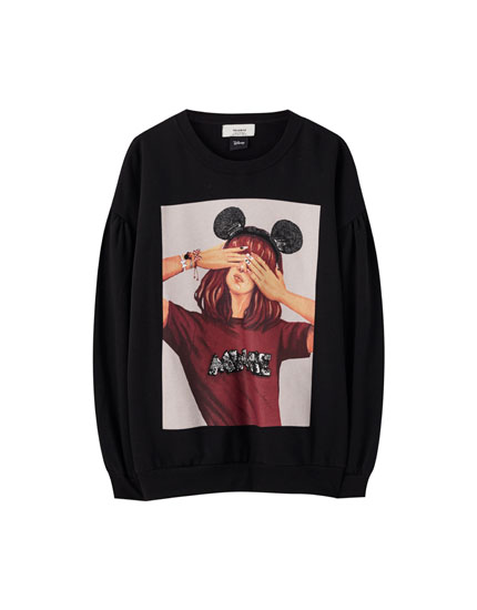 Sweat noir Minnie