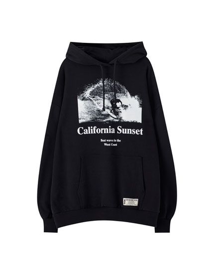 "Black ""California Sunset"" hoodie"