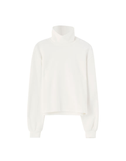 Basic high neck sweatshirt