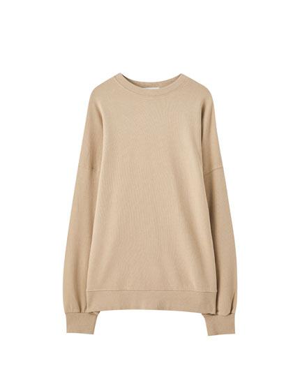 Verwaschenes Basic-Sweatshirt