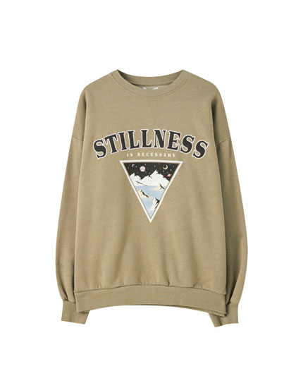 Stillness sweatshirt with triangle illustration
