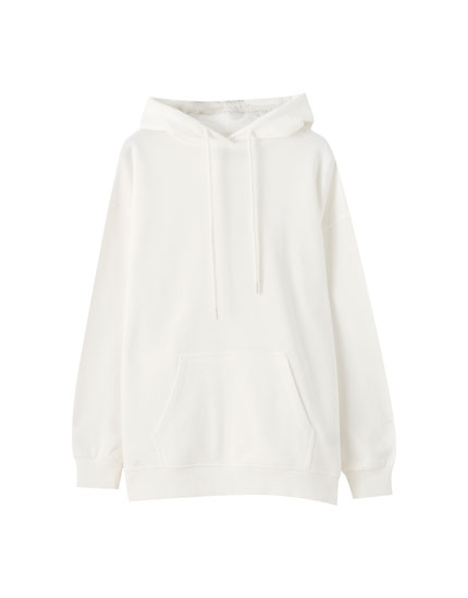 Basic oversize cotton hoodie