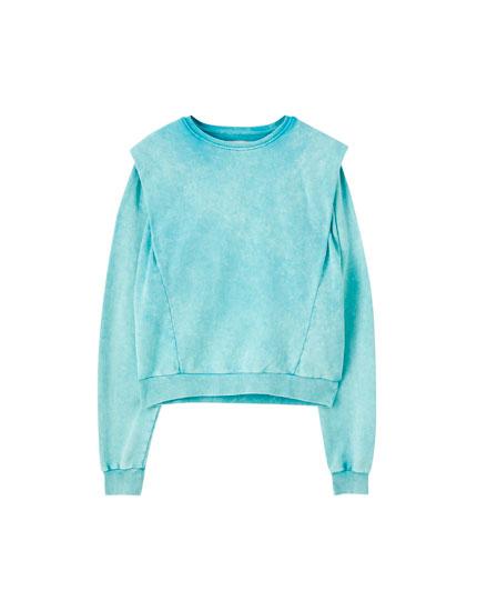 Green faded-effect sweatshirt