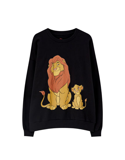 Sweat noir Le Roi Lion