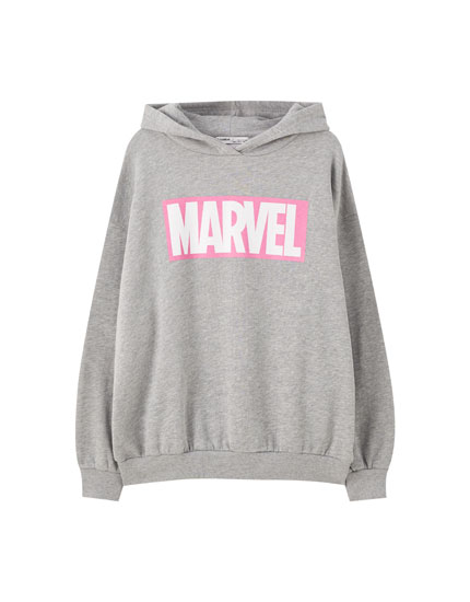 Grey Marvel hoodie with logo