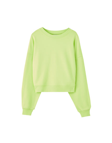 Basic relaxed fit round neck sweatshirt