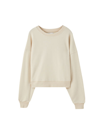 Basic relaxed fit round neck sweatshirt