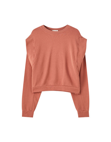 Sweatshirt with voluminous shoulder detail