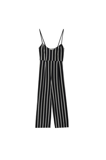 Striped strappy jumpsuit