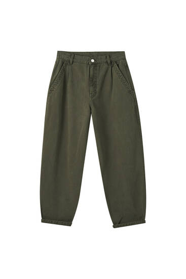 Pantalon slouchy taille haute