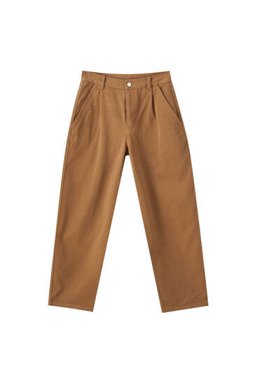 High-waist slouchy trousers