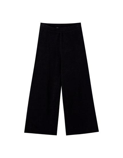 Pantalón culotte soft negro