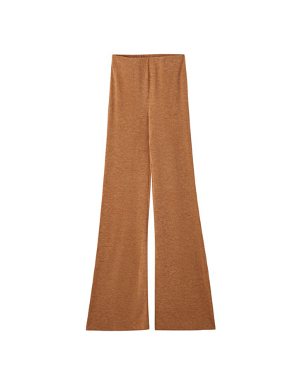 Soft-touch flared trousers
