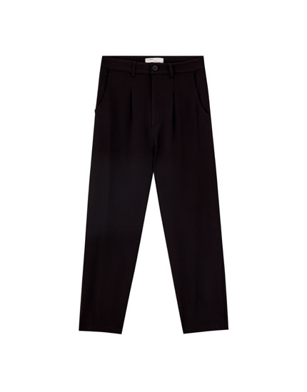 Black darted trousers