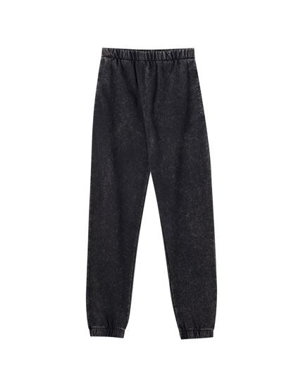 Basic-Jogger im Washed-Look
