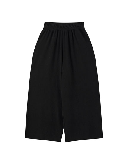 Textured culottes