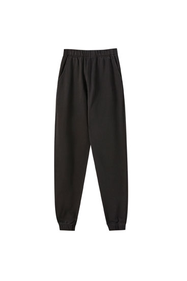 Basic cotton jogging trousers