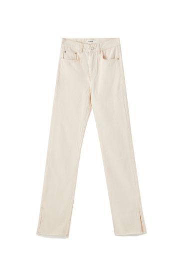 Jeans aberturas tiro alto