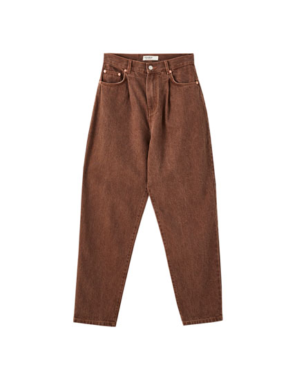 Jeans slouchy pinzas color