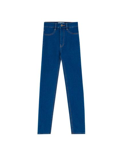 rrp.£24.95 Womens Light Wash Faded Blue Denim Skinny Jeans /& Belt 8 10 12  SALE