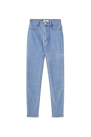 Jeans skinny tiro alto