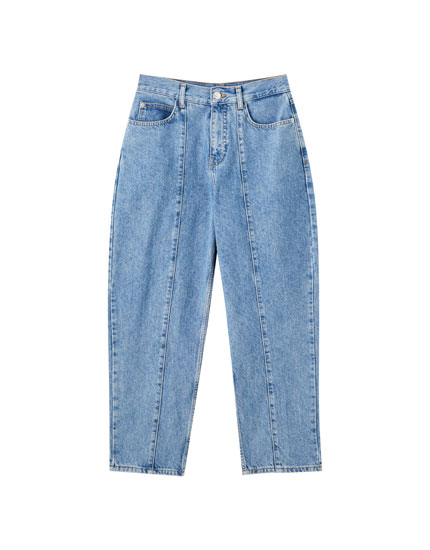 Jeans slouchy coutures jambes