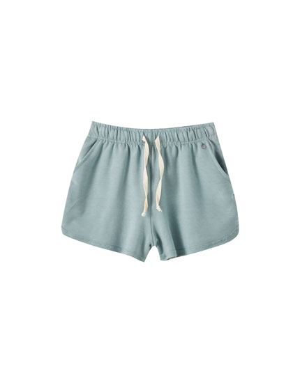 Basic plush jersey shorts