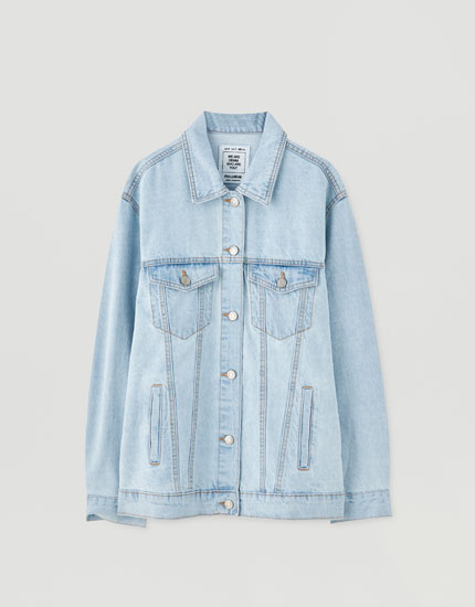 Veste jean ample boutons