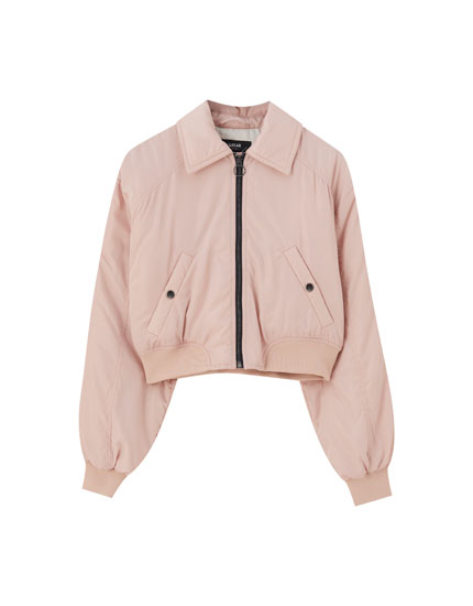 Basic bomber jacket with front pockets