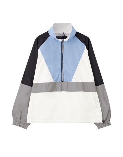 Colour block anorak jacket