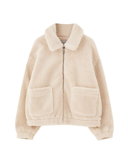 Classic faux shearling jacket