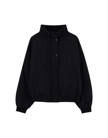 Fleece-lined bomber jacket