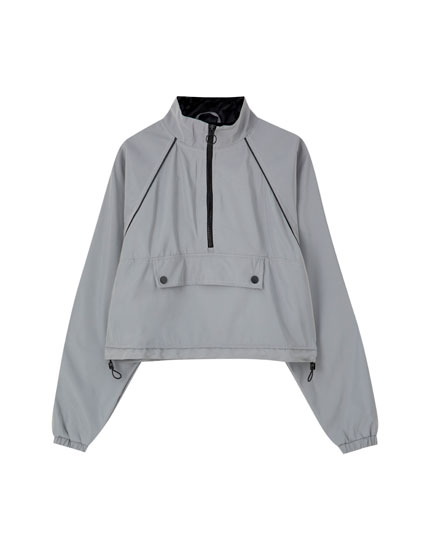 Reflective anorak jacket