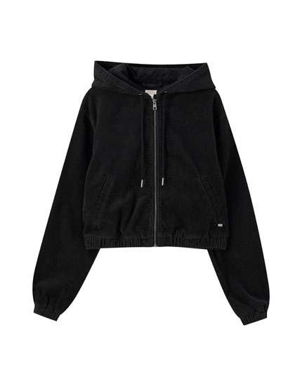 Faded black corduroy jacket