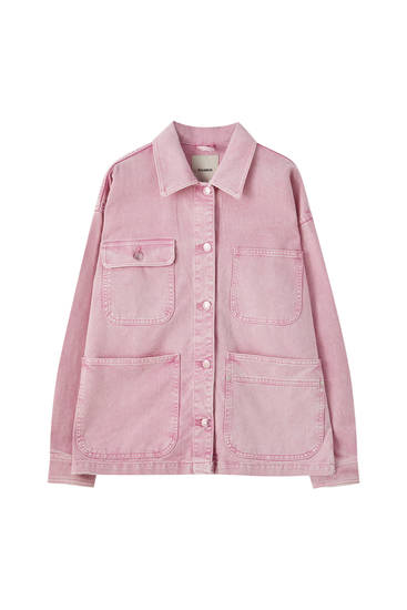 Worker jacket with large pockets
