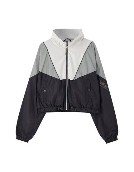 Colour block reflective jacket