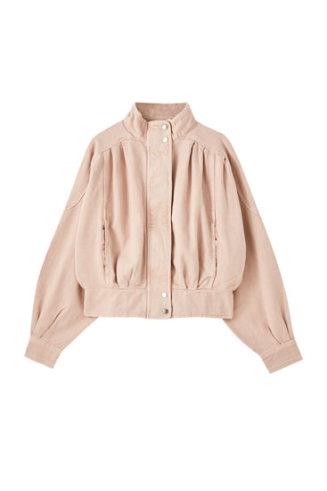 Pink high neck jacket