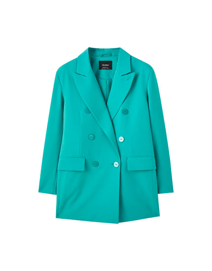 Buttoned blazer with pockets