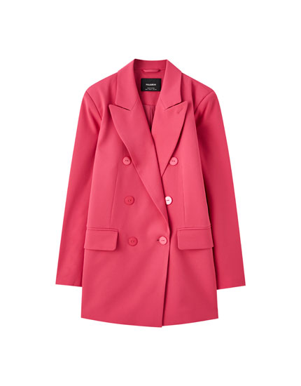 Oversize buttoned blazer